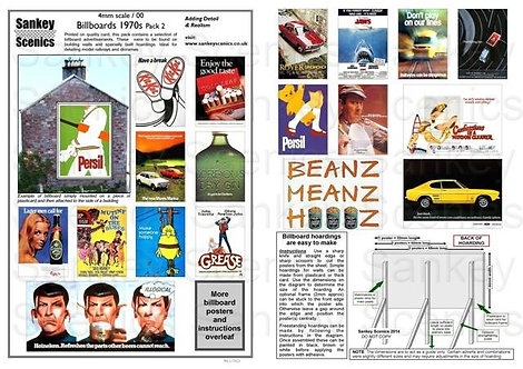 4mm Billboard Posters 1970s Pack 2
