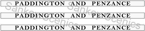 4mm GWR Destination Boards: Paddington & Penzance