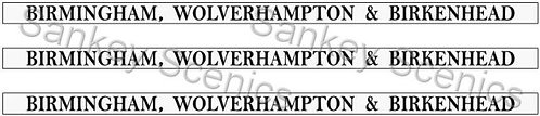 4mm GWR Destination Boards: Birmingham, Wolverhampton & Birkenhead