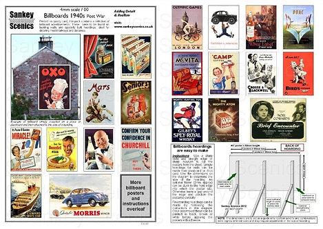 4mm Billboard Posters 1940s Post War