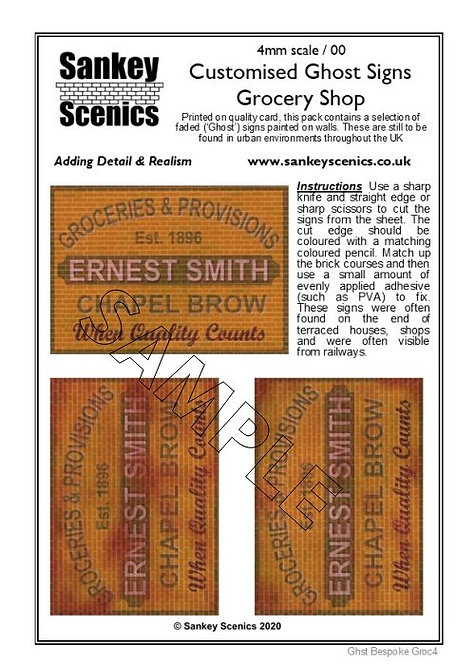 4mm Customised Ghost Signs - Grocery Shop