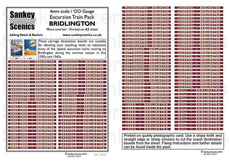 4mm Excursion Trains: Bridlington
