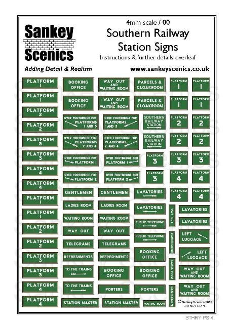 4mm Southern Railway Station Signs