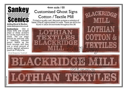 4mm Customised Ghost Signs - Textile Mill