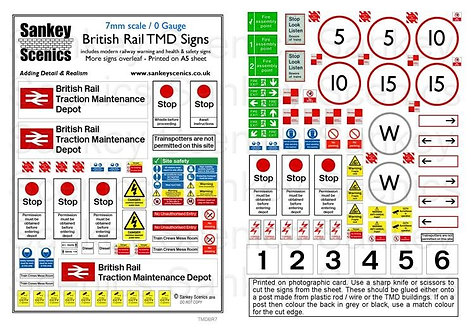 7mm TMD Signage British Rail