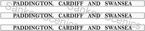 4mm GWR Destination Boards: Paddington, Cardiff & Swansea