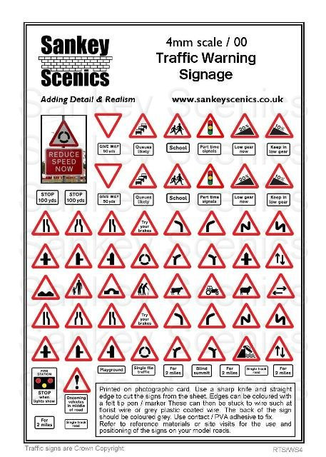 4mm Traffic Warning Signs
