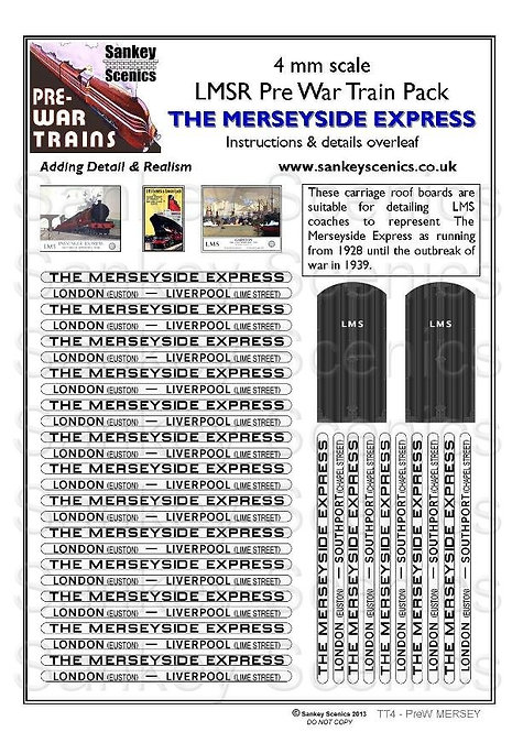4mm Pre-war Titled Train: The Merseyside Express