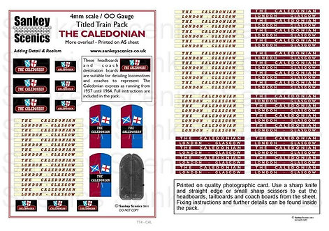 4mm Titled Train Pack: The Caledonian