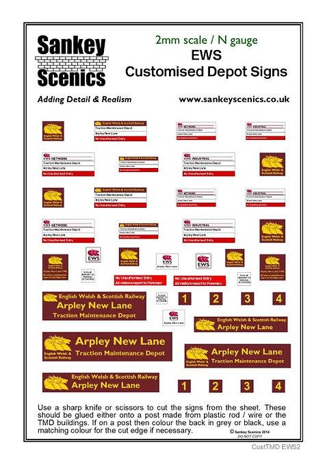 2mm Customised TMD Signage EWS Depot