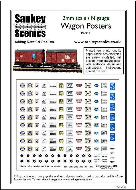 2mm Wagon / Van Poster Pack 1