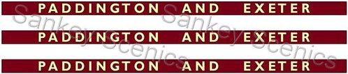 4mm BR WR Destination Boards: Paddington & Exeter