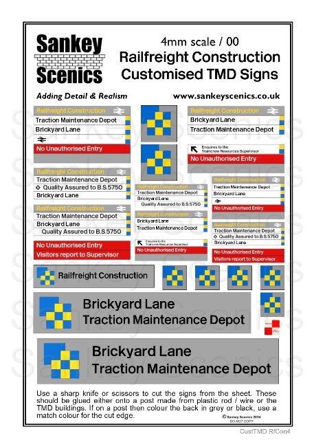 4mm Customised TMD Signage: BR Railfreight Construction Sector