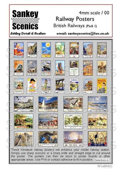 4mm British Railways Posters Pack 1