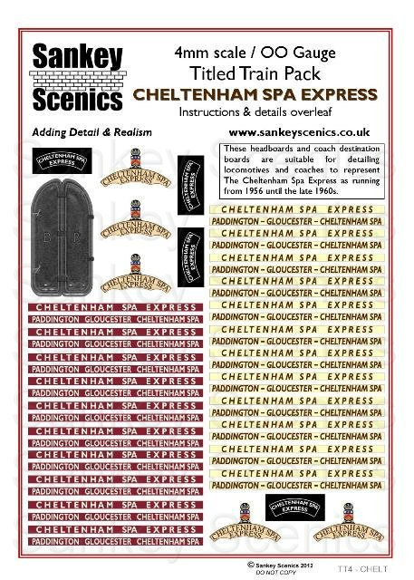4mm Titled Train Pack: Cheltenham Spa Express