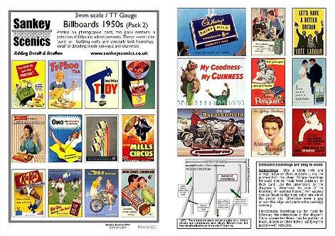 3mm TT Billboards 1950s Pack 2