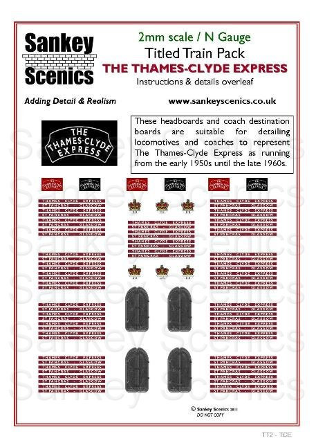 2mm Titled Train: Thames-Clyde Express