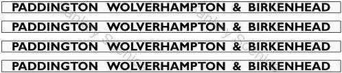 4mm GWR Hawksworth Destination Boards: Paddington, Wolverhampton & Birkenhead