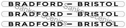 4mm LMS Destination Boards: Bradford - Bristol