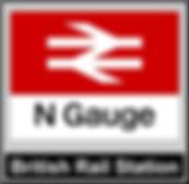 Web button British Rail Station N gauge.