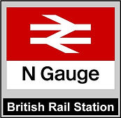 Web button British Rail Station N gauge.