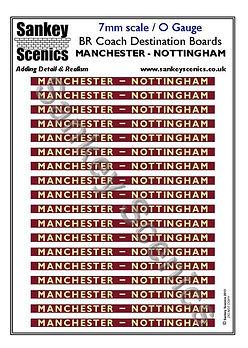 7 mm Scale Coach Destination Manchester