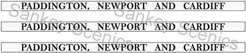 4mm GWR Destination Boards: Paddington, Newport & Cardiff