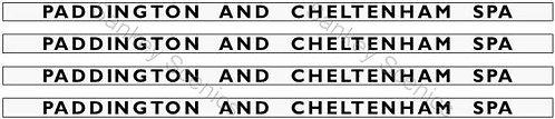 4mm GWR Hawksworth Destination Boards: Paddington & Cheltenham Spa