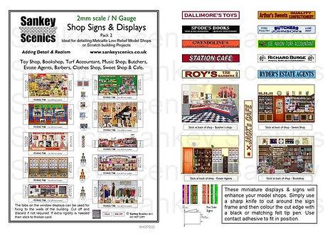2mm Shop Signs & Displays  Pack 2
