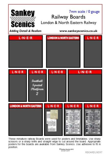 7mm LNER Boards
