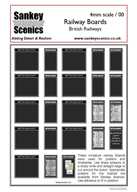 4mm British Railways Posters Boards