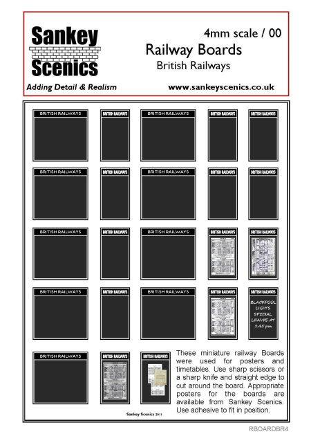 4mm British Railways Posters Boards