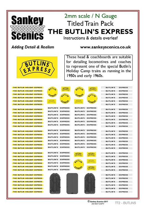 2mm Titled Train Pack: The Butlin's Express