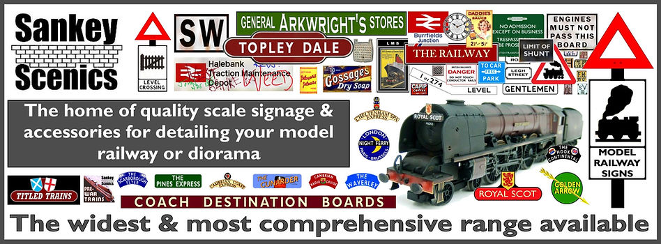 Model Railway Signs by Sankey Scenics