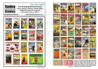 7 mm Pre Grouping Railway Posters South.