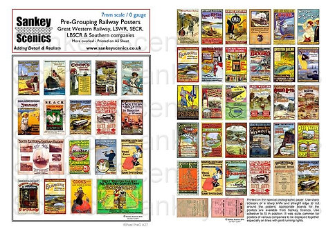7mm Pre-Grouping Railway Posters: Southern Companies