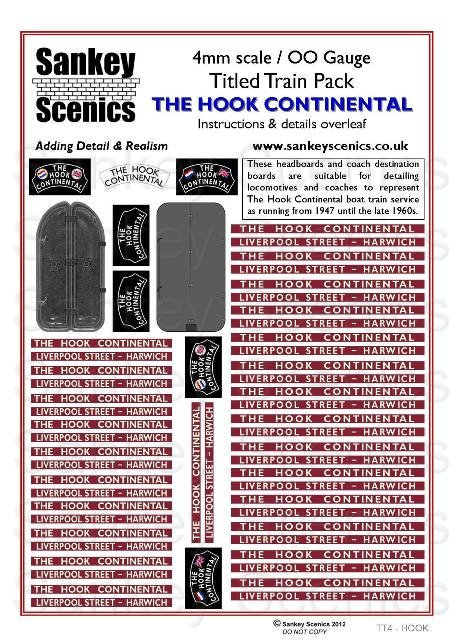 4mm Titled Train: Hook Continental