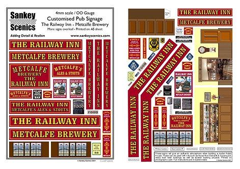 4mm Customised Pub Signs - Maroon Colour Scheme