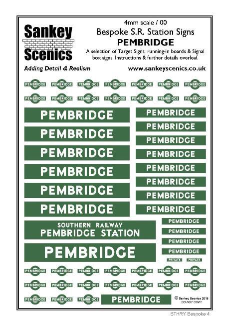 4mm Bespoke Southern Railway Station Pack