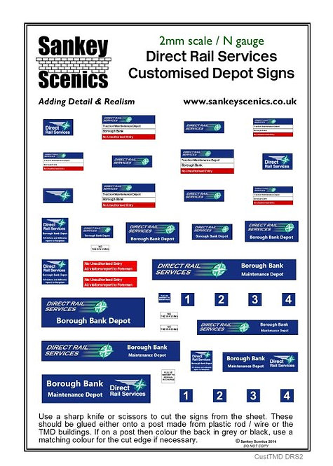 2mm Customised TMD Signage DRS Depot