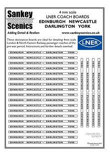 4 mm Scale LNER Edinburgh Newcastle Darl