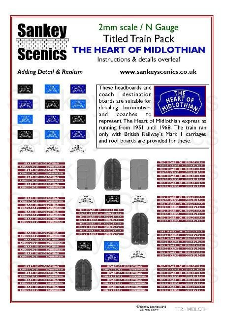 2mm Titled Train: Heart of Midlothian