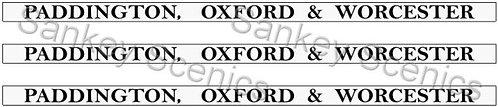 4mm GWR Destination Boards: Paddington, Oxford & Worcester
