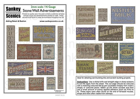 2mm Stone Wall Advertisements Pack 1