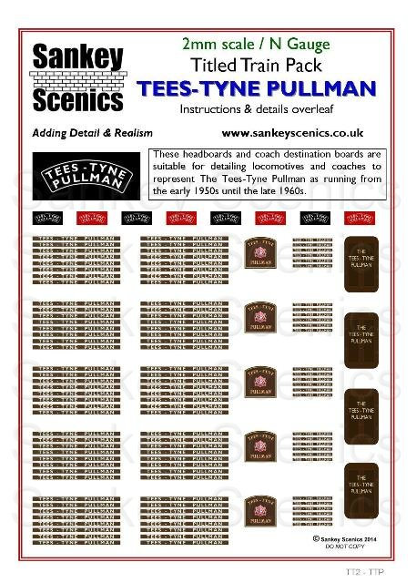 2mm Titled Train: Tees-Tyne Pullman