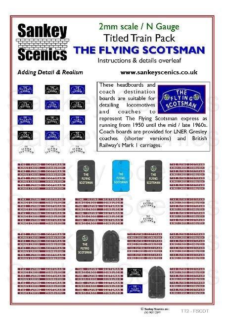 2mm Titled Train: The Flying Scotsman