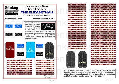 4mm Titled Train: The Elizabethan
