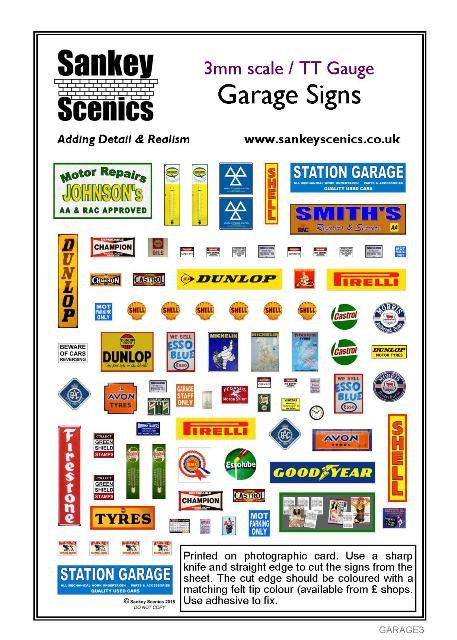 3mm TT Garage Signs