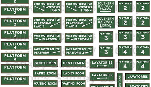 1 Southern Railway Station Signs 4mm DET