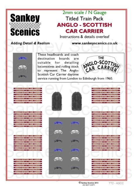 2mm Titled Train Pack: Anglo-Scottish Car Carrier